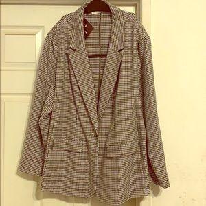AVA & VIV black, lavender, gray, & white blazer.